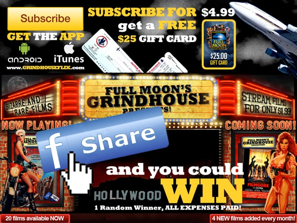 Full Moon Presents the Grindhouse Flix Service and Your Chance to Enter a HUGE Contest