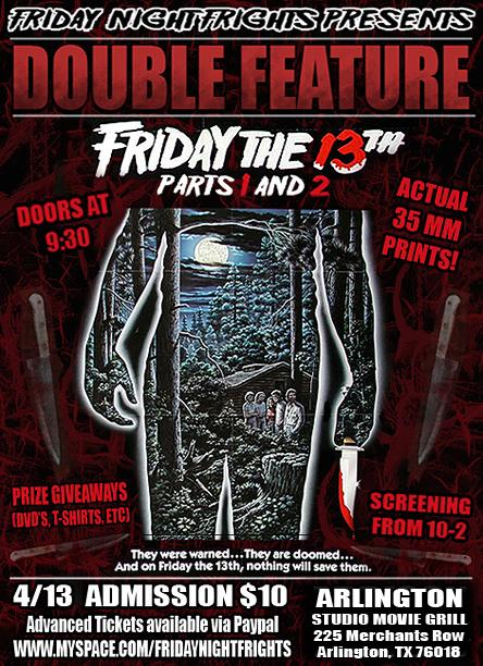 Friday the 13th double feature tonight!