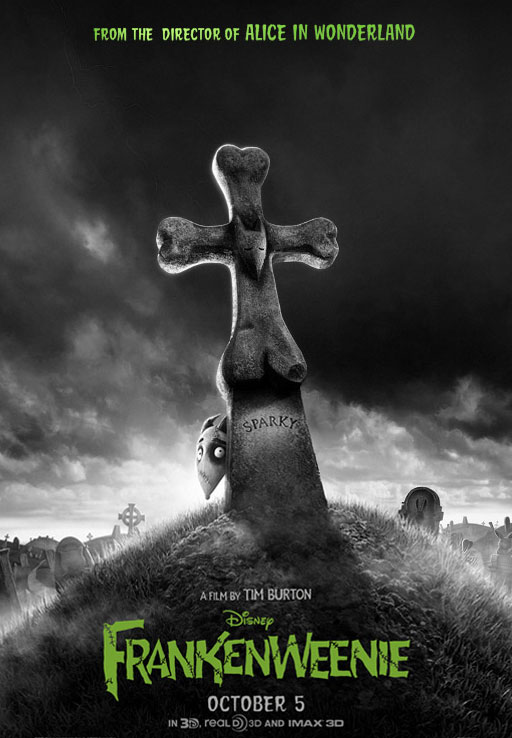 New International Frankenweenie One-Sheet Barks at the Moon