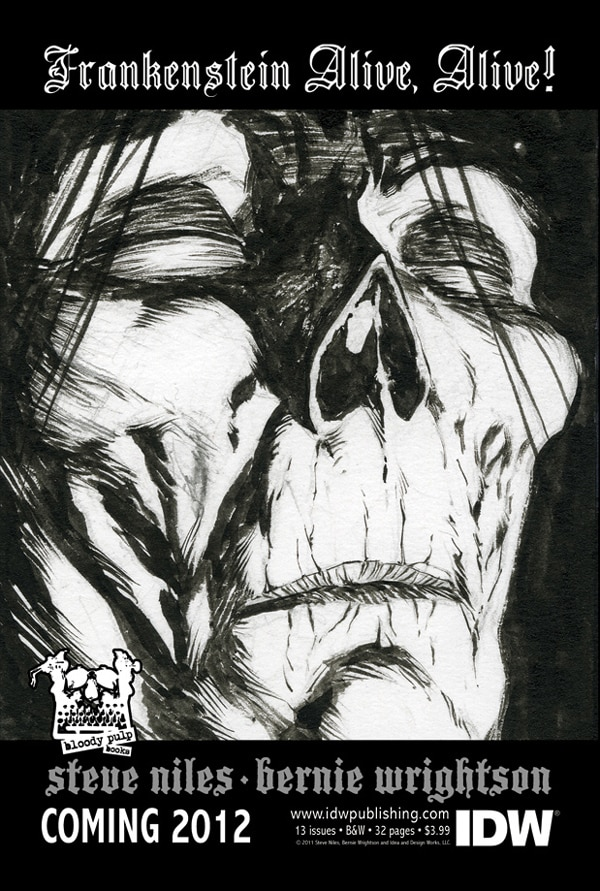 San Diego Comic-Con 2011: Frankenstein Alive, Alive Coming from Steve Niles and Bernie Wrightson