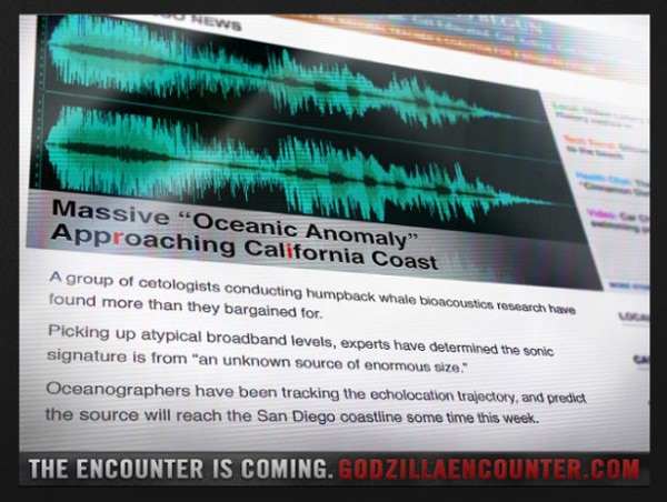 godzilla oceanic - San Diego Comic-Con 2013: Download the Godzilla Encounter App to Earn Concept Art and More!