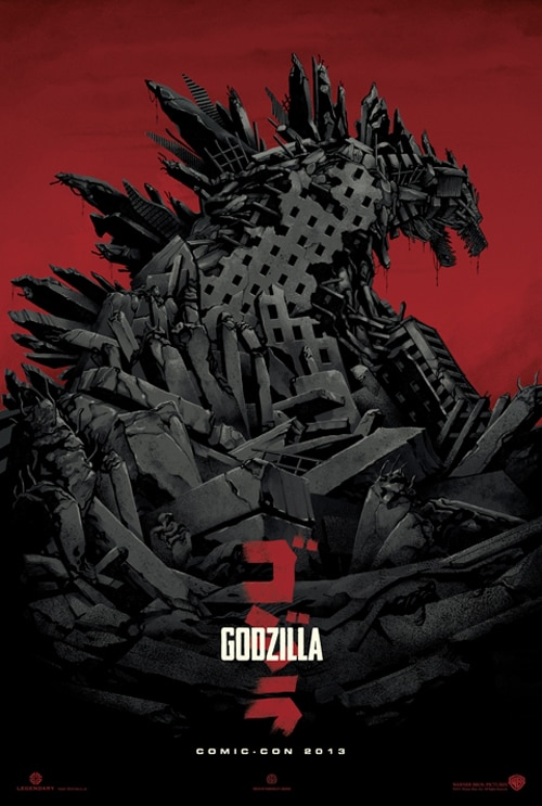 godzilla variant 1 - San Diego Comic-Con 2013: Download the Godzilla Encounter App to Earn Concept Art and More!
