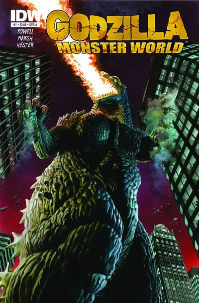 Cover Art for IDW's Godzilla: Monster World and Godzilla: Kingdom of Monsters
