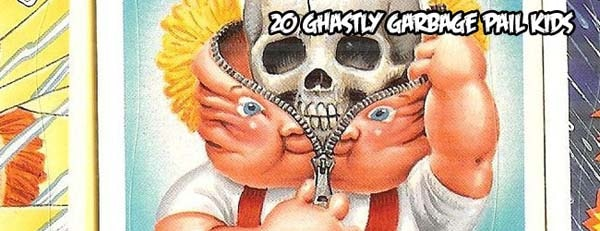 gpkslids - 20 Ghastly Garbage Pail Kids - The 80s Baby's Precursor to Horror