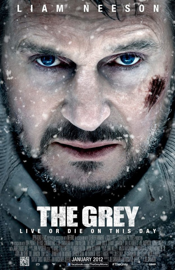 New Teaser One-Sheet for The Grey - Liam Neeson Looks Pissed!