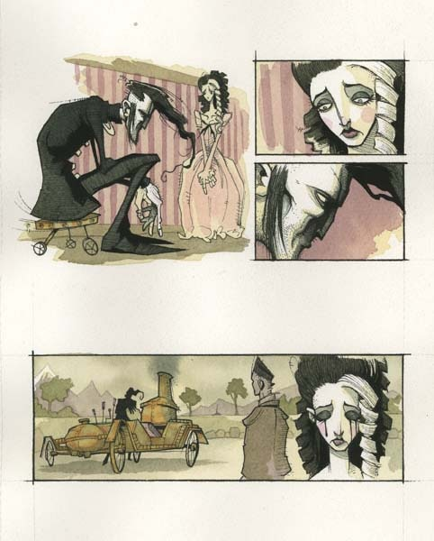 New Illustrations from Gris Grimly's Frankenstein