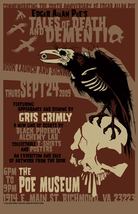 Gris Grimly Signing Edgar Allan Poe's Tales of Death and Dementia in Richmond, VA