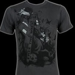 Gris Grimly's new Broken Justice t-shirt line (click to see it bigger!)