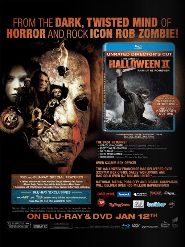 Rob Zombie's Halloween II Early Sales Art - Dread Central