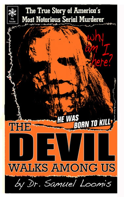 Loomis' new book in The Devil Walks Among Us as featured in Rob Zombie's Halloween 2
