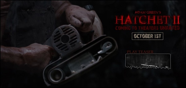 Hatchet II Website Now Live with Gory New Images!