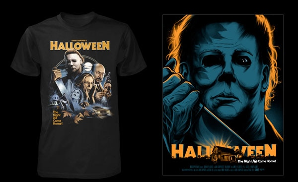 halloween t 1 - Our Favorite Holiday Comes Early with Fright Rags' Halloween Shirts and Posters!