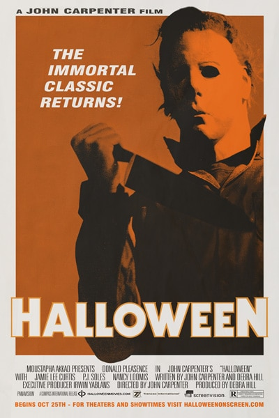 Theatrical Re-Release One-Sheet for Halloween Stalks the Internet!