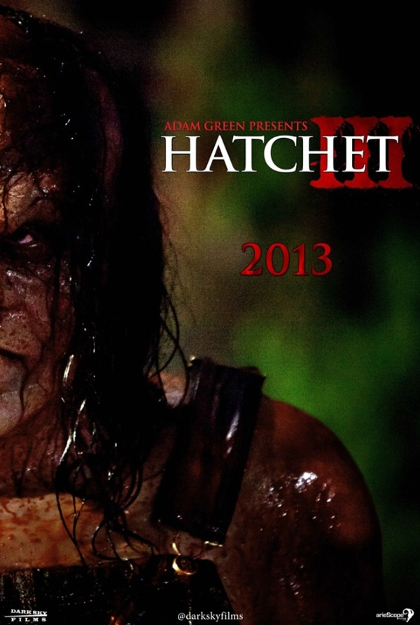 San Diego Comic-Con 2012: Limited Edition Hatchet III Teaser Poster