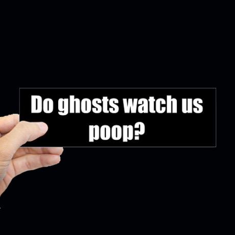 Haunted Bumper Sticker