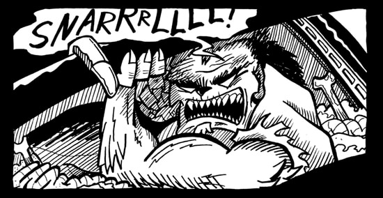 Hard-Boiled Horror Tales: The Hit Got Hairy Part V (click for larger image)