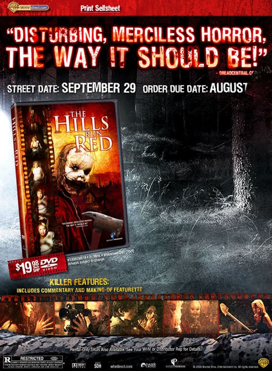 The Hills Run Red on DVD