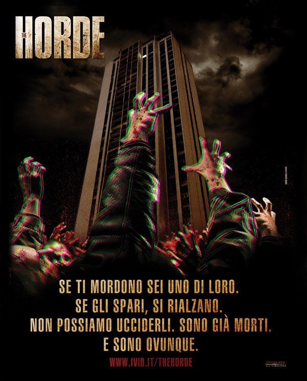 New Italian 3D One-Sheet for The Horde