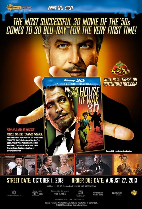 house of wax blu ray - Exclusive House of Wax 3D Blu-ray Clip Will Melt Your Heart