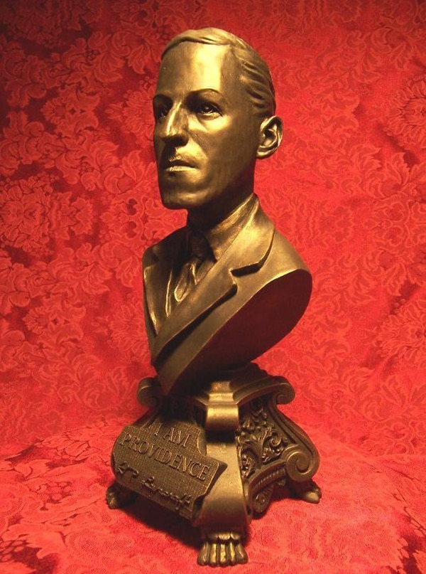 hp lovecraft bronze bust 1 - H.P. Lovecraft to be Honored in Providence, Rhode Island
