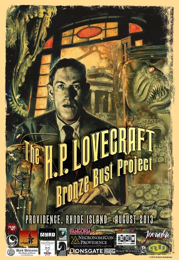 hp lovecraft bronze bust - H.P. Lovecraft to be Honored in Providence, Rhode Island