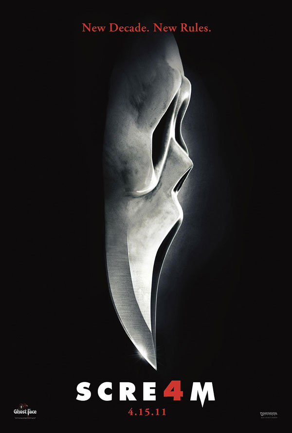 Scream 4 - New Still and TV Spot' Up the Screen