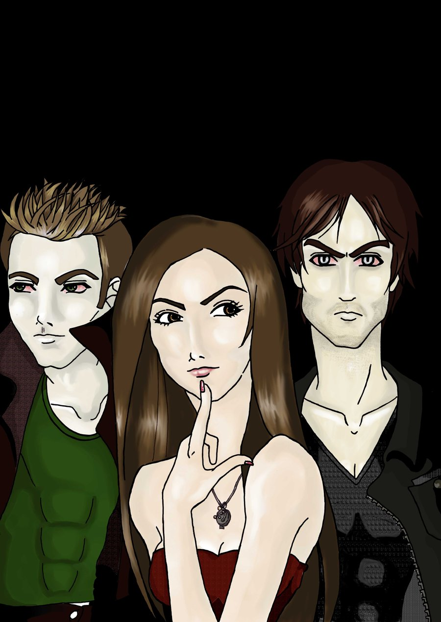 The Vampire Diaries, Nina Dobrev, Paul Wesley, Ian Somerhalder
