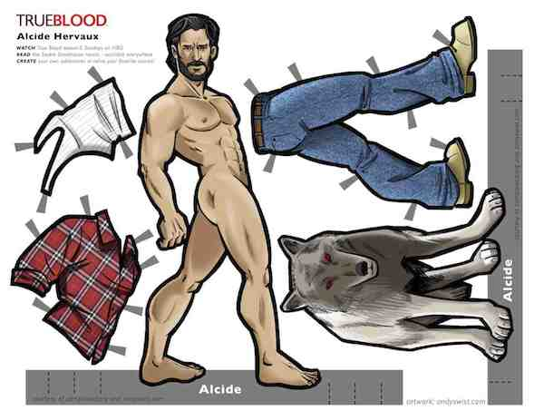 True Blood Paperdolls Alcide Herveaux Joe Manganiello