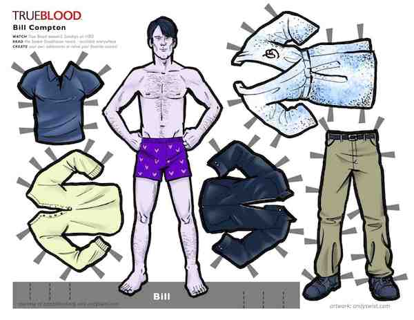 True Blood Paperdolls Bill Compton Stephen Moyer