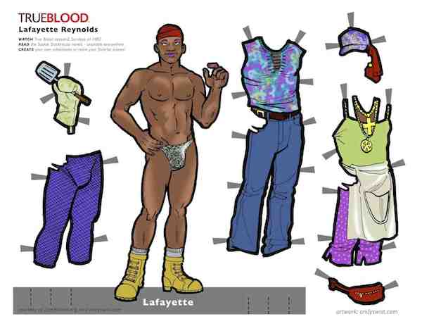 True Blood Paperdolls Lafayette Reynolds Nelsan Ellis