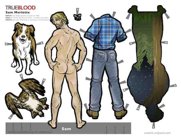 True Blood Paperdolls Sam Merlotte Sam Trammell