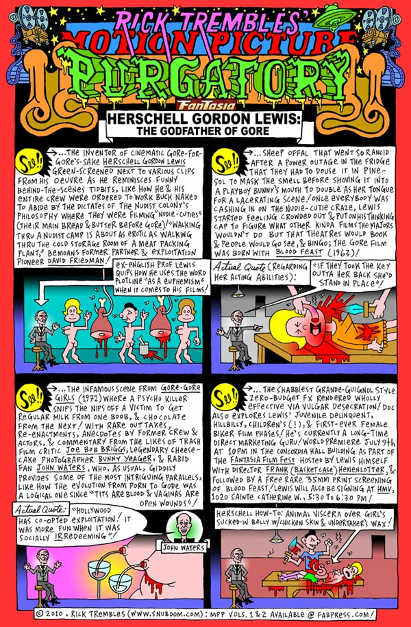 Rick Trembles' Herschell Gordon Lewis - The Godfather of Gore review!