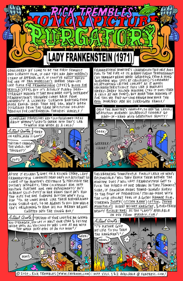 Rick Trembles' Lady Frankenstein review!