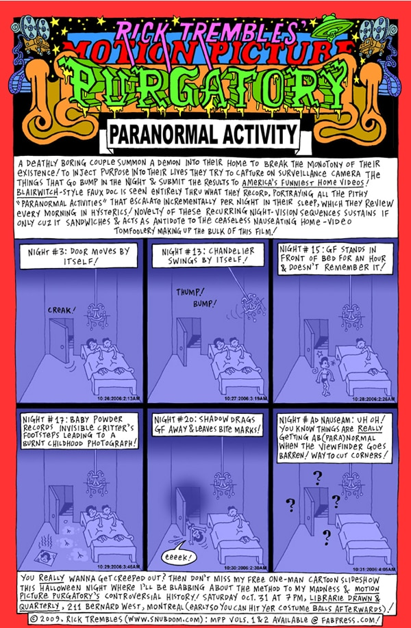 Rick Trembles' Paranormal Activity review!