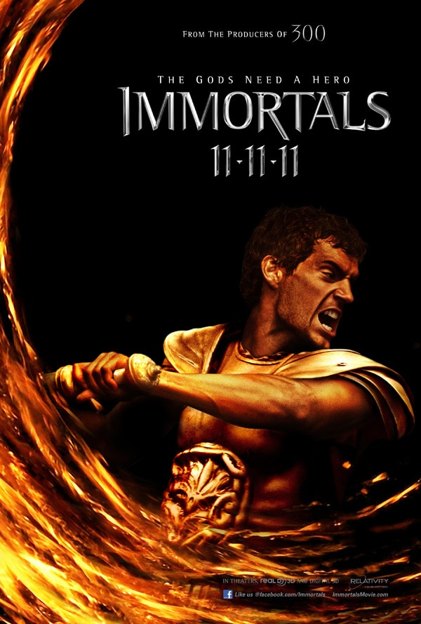 Immortals Theseus Character One-Sheet
