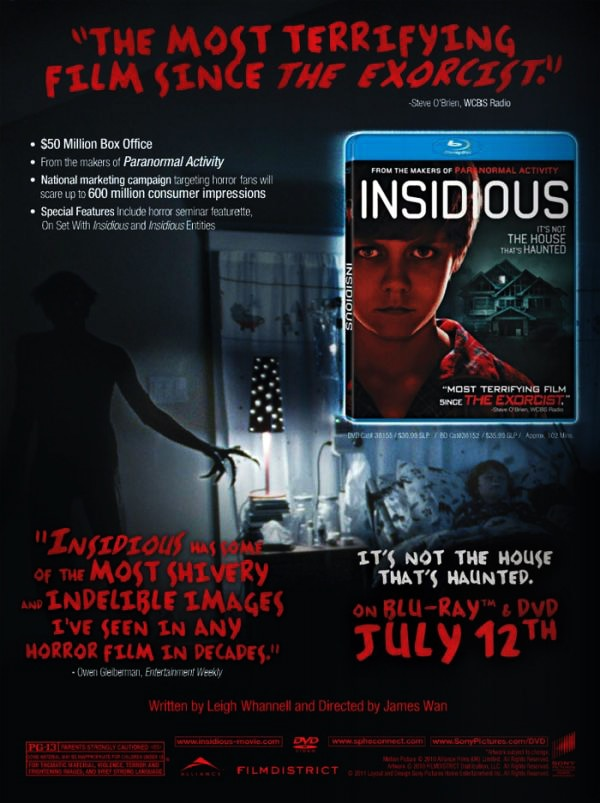 Insidious to Haunt Your House in July