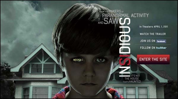 New Insidious Site Brings Evil Online