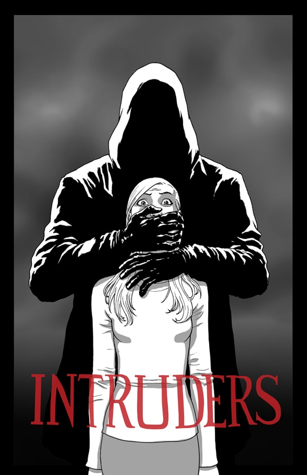 Stare Down Hollow Face in this Badass Comic-Style Poster for Intruders