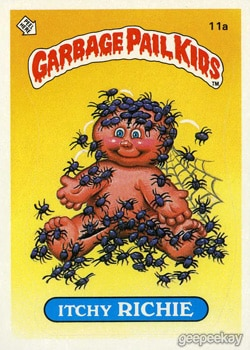 itchy richie - 20 Ghastly Garbage Pail Kids - The 80s Baby's Precursor to Horror