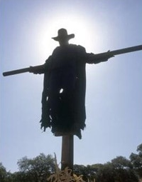 Jeepers Creepers. Where'd you get that cross, buddy?