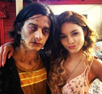 Vanessa Hudgens Hangs with the Undead in Behind the Scenes Photos from The Kitchen Sink