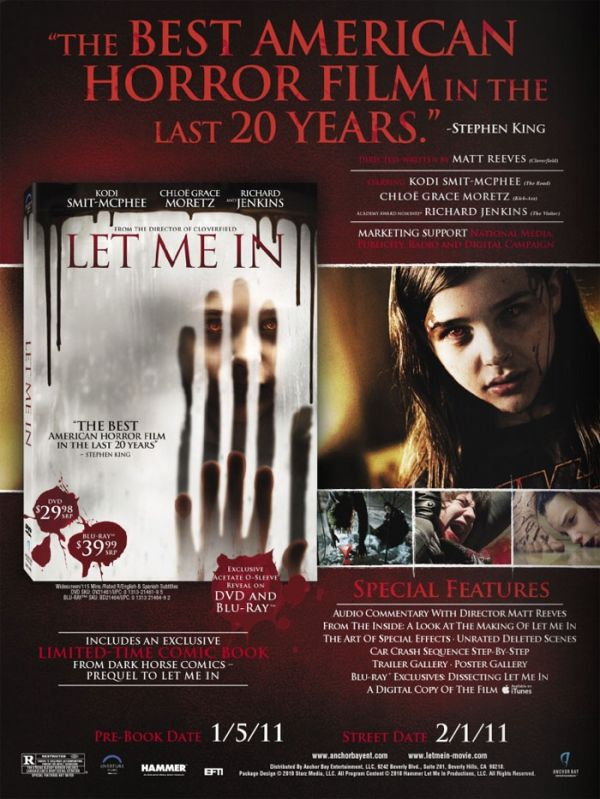 Let Me In Coming Home to Blu-ray and DVD in February