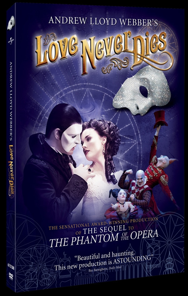 Phantom of the Opera Sequel Love Never Dies Heading to Blu-ray and DVD in May