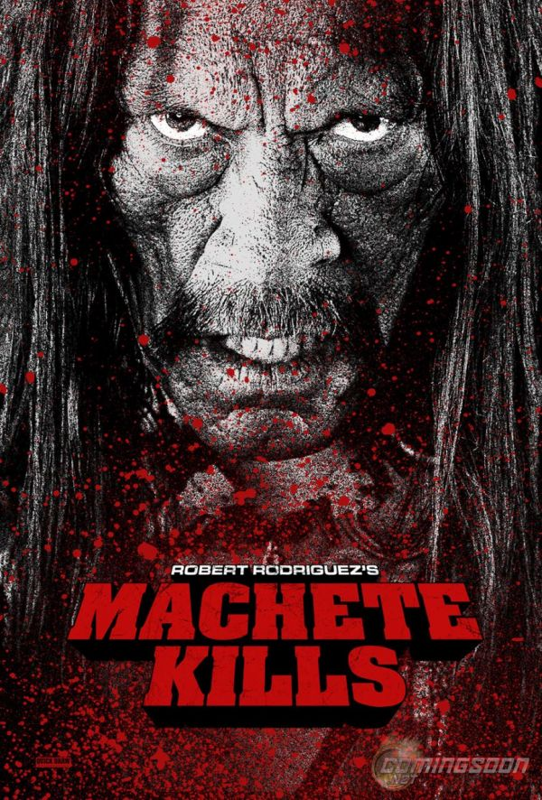 Zoe Saldana Puckers Up for Machete Kills
