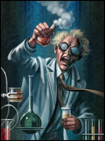 Mad Scientist out to Correct the Errors of the Human Body