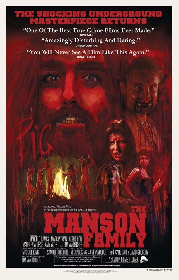 Full Schedule for The Manson Family Theatrical Rollout; Includes World Premiere of Gator Green Short This Weekend