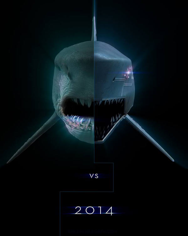 Mega Shark and Mecha Shark Collide Repeatedly in this Epic Trailer