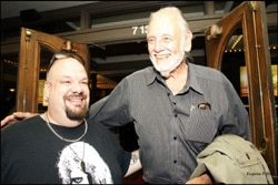 Uncle Creepy and George Romero at the US Survival of the Dead premiere