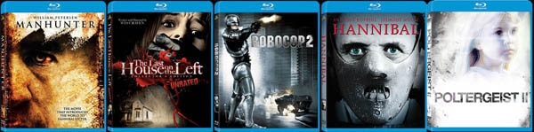 Fox/MGM Dropping Horror on Blu-ray By the Bundle - Hannibal, Last House on the Left, Manhunter, Poltergeist II: The Other Side and RoboCop 2. (click for larger image)