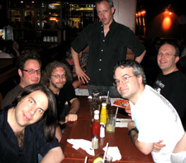 From left to  right; Mitch, Andy, Scooter, Mark, Harvey, and Mike